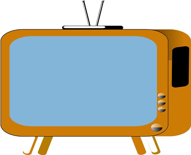 starý televizor animace