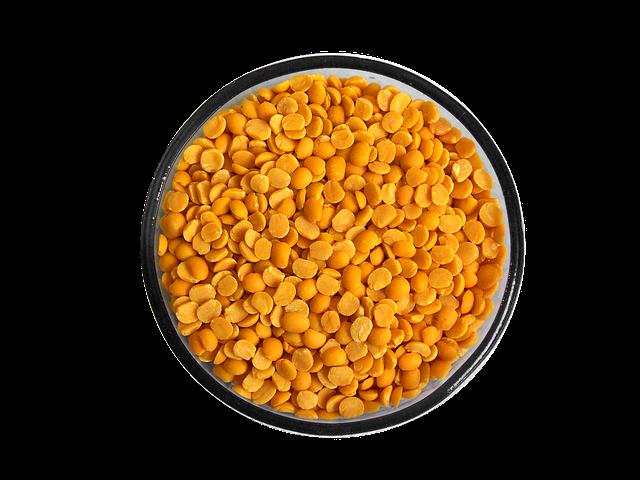 žlutá čočka