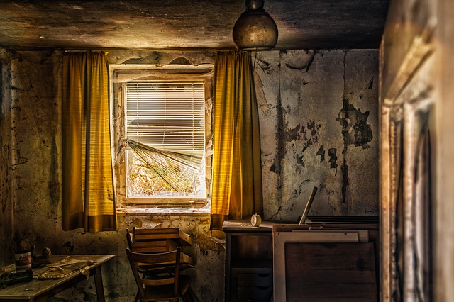 starý dům s plísní
