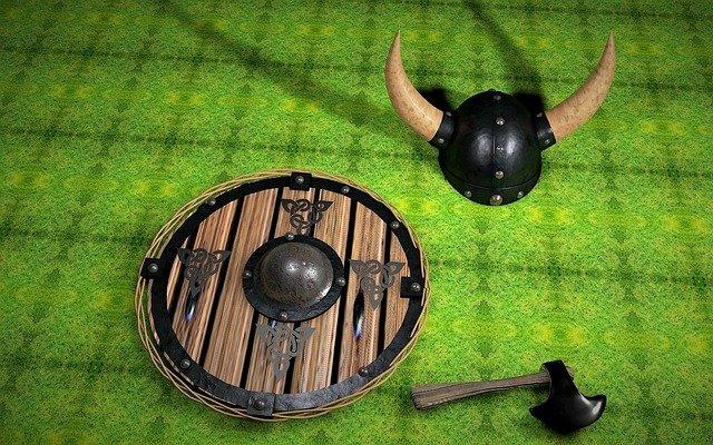 viking štít sekera