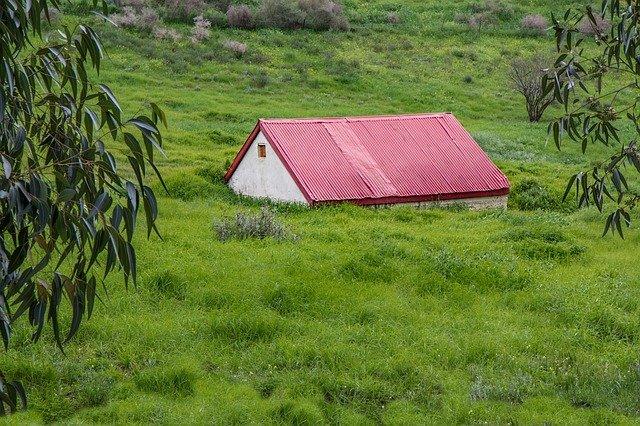 červená střecha