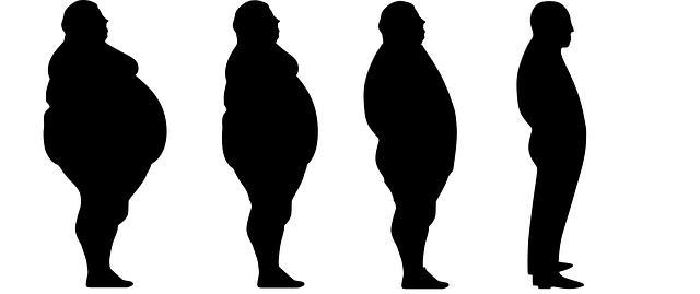 více osob od hubených po silně obézní
